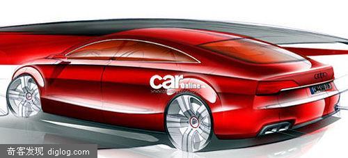 奥迪新款四门轿跑车a7第一张设计草图曝光