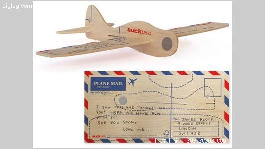 木板拼图明信片