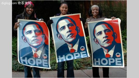 Shepard Fairey 在奥巴马竞选美国总统的时候,为其设计了一幅非常经典的波普风格的宣传海报 Barack Obama Hope Poster 。随着竞选的成功,不少人都迷恋上这位美国新总统。而很多网友也将自己的头像更换成了这种波普风格的图片(Obamicon),那么,你是否也有兴趣制作并展示给大家呢? Paste Magazine 推出的 Obamicon.