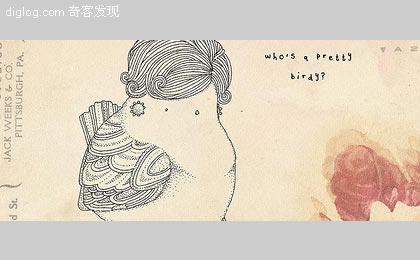 一些手绘的涂鸦小品,关于可爱的身材丰满的小鸟^^ 来自Kate Wilson的充满童趣的作品。之前也有放送一些很可爱的以鸟为主题的作品《可爱的手工毡布小鸟》《色彩与鸟Josh Brill的印刷品设计...