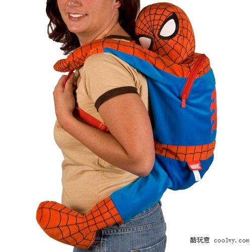 超酷蜘蛛侠背包回头率100%创意礼品爱情公寓有出现过