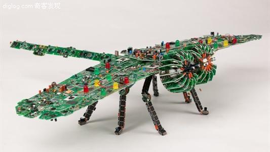 用废旧pcb电路板制作的精美艺术品