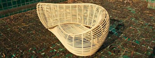 wyer设计的纯手工藤条编织沙发