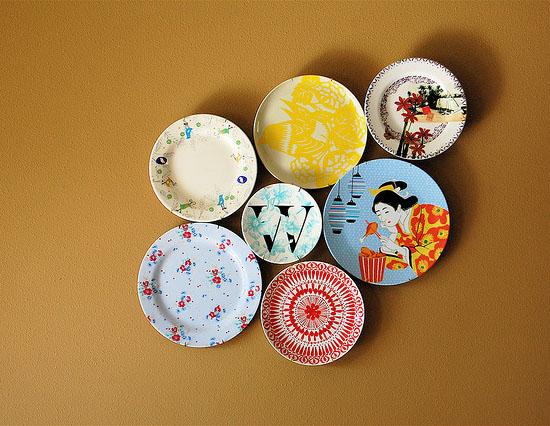 图案和大小的盘子能够组合出不同效果