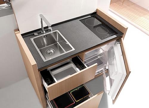 创意 设计 时尚 家居 把厨房装进柜子里